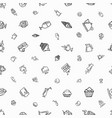 seamless white pattern with hand-drawn elements vector image
