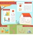 Senior Lifestyle Infographics vector image vector image