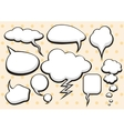 set comic bubbles and elements with shadows vector image vector image