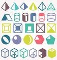 set icons geometric logo vector image vector image