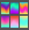 set of bright wavy dynamic ui backgrounds vector image vector image