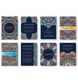 set of old ramadan kareem flyer pages ornament vector image