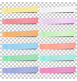 set of pastel color sticky notes stickers vector image