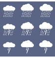 Set of rainy icon for weather or climate project vector image vector image