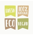 Set of vegan eco labels vector image vector image