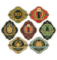 set ornate beer labels in retro style vector image vector image