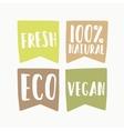 set vegan eco labels vector image vector image