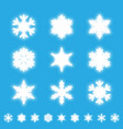 snowflakes isolated set white neon light snow vector image vector image