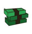 stack of money abundance bank business vector image