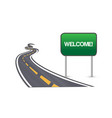 street road and welcome sign symbol vector image