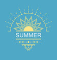 summer poster card banner in geometric ethnic vector image vector image