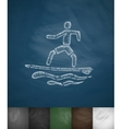 surfer on waves icon Hand drawn vector image vector image