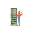 system administrator server admin programmer vector image vector image