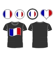 t-shirt with the flag of France vector image vector image