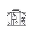 travel suitcase line icon concept travel suitcase vector image