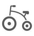 tricycle glyph icon bicycle and child vector image vector image