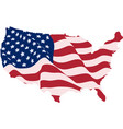 usa flag in the form of maps of the united states vector image