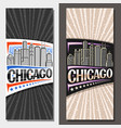 vertical layouts for chicago vector image vector image