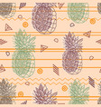 vintage tribal pineapples background vector image