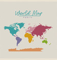 world map fabric colorful on white background vector image vector image