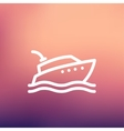 Yacht thin line icon vector image vector image