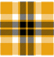 yellow and black tartan plaid seamless pattern vector image vector image