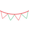 green and red garland pennant decoration festive vector image