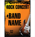 Rock concert background vector image