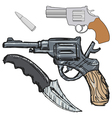 vintage hand weapon vector image