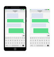 messenger interface for smartphone vector image