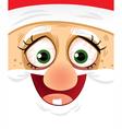 Crazy Eyes Santa - Cartoon vector image