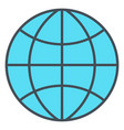 globe icon flat design earth symbol vector image