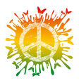 artistic hippie peace vector image vector image