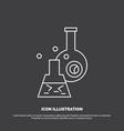 beaker lab test tube scientific icon line symbol vector image