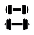 black dumbell shape silhouette vector image