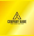 black letter a emblem with golden background vector image vector image