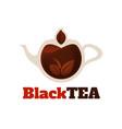 black tea logo template vector image vector image