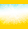 blue yellow sky ray background vector image vector image