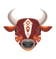 bull head logo decorative emblem vector image