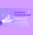 business presentation background vector image vector image