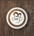 cafe round sign vector image vector image
