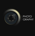camera lens concept for photographer vector image vector image