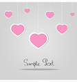 Card with love hearts vector image