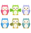 Cartoon Owls vector image vector image