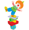 Circus clown equilibrist vector image vector image
