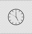 clock icon isolated on transparent background vector image vector image