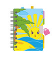 closed personal diary with a lock and a bright vector image vector image