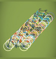 colorful bicycle flat vector image vector image