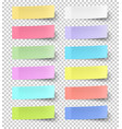 colour sticky notes isolated on transparent vector image