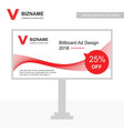 company bill board ads design with video logo vector image vector image